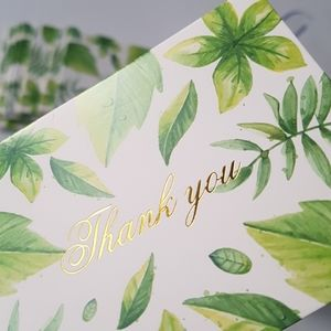 """🆕 NEW 24 pcs Leaves Thank You Cards 2.75x3.75"""" in"""